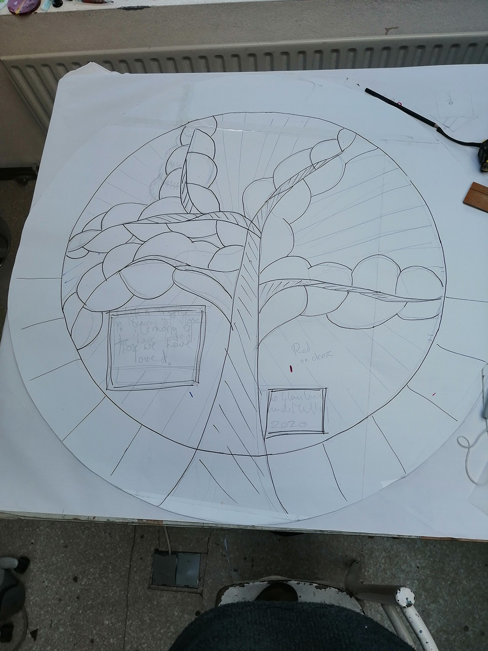 Ballyhaunis_Commission_Stained_Glass_Design_becoming_clearer_at_The_Glasshouse